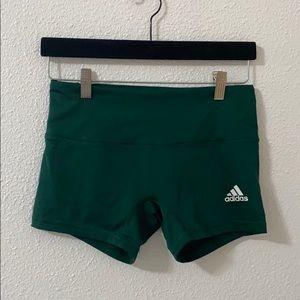 Green 4 inch adidas shorts
